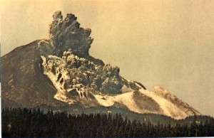 Start of Eruption.  Landslide