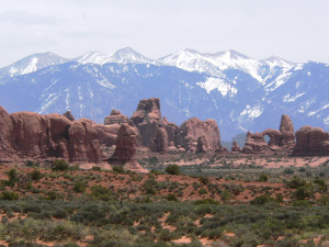 La Sal Mountains and Arches