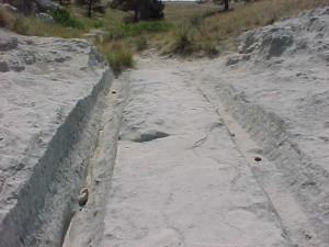 Trail Ruts at Guernsey WY