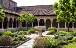 A Courtyard in the Cloisters