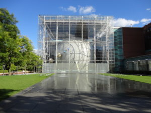 The Hayden Planetarium at the Museum of Natural History